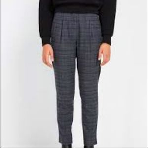 Frank & Oak grey high waist plaid pants